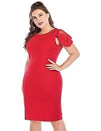 Summer Plus Size Dress Female Large Sizes Pencil Midi Dress Womens Big Size Bodycon Clothing 6XL