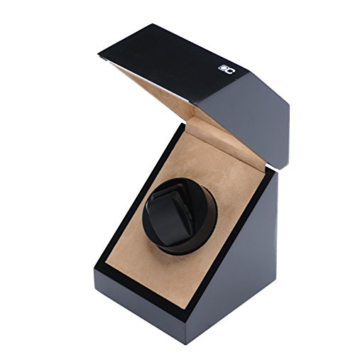 KAIHE-BOX Classic Watch Winders for 1 Watches for automatic Watch Winder Rotator Case Cover Storage(2 color,ww-02131) , # 2 by KAIHE-BOX (Image #8)