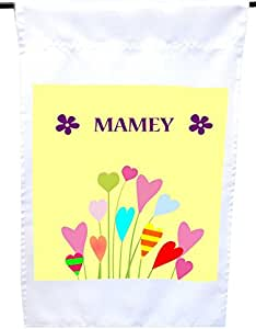 Rikki Knight Mamey Name Buttercup Flower House or Garden Flag, 12 x 18-Inch Flag Size with 11 x 11-Inch Image