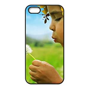 iPhone 4 4s Cell Phone Case Black Girl Dandelion Phone Case Cover For Women Custom CZOIEQWMXN25988