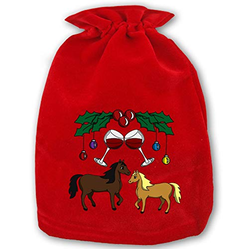 Mare Y Christmas Party Favors Bags Gift Candy Drawstring Pouch -