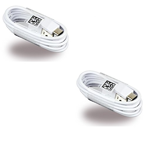 Two (2) OEM Samsung USB-C Data Charging Cables for Galaxy S8/S8+ - White EP-DN930CWE- Bulk Packaging  samsung usb c cable   Samsung S8, S8+ and LG G6 5 pack USB C Cables 416L7C4XboL