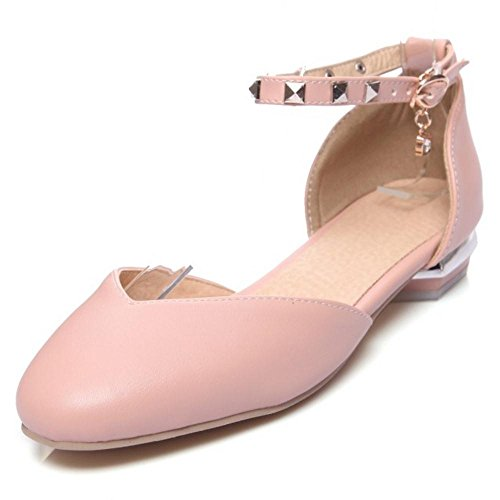 Ankle Women Heel Pink 47 Low RAZAMAZA Strap Pumps qUx6aRR5w