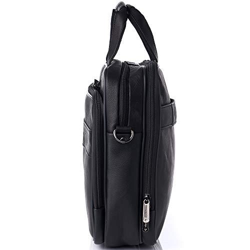 """67f2d4e97 Alpine Swiss Messenger Bag Colombian Leather 15.6"""" Laptop Briefcase  Portfolio"""