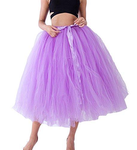 Rtro Tulle en sous Vintage 80cm Jupon Tutu Lilas Petticoat Femme Jupe Robe Comall 01zxYz
