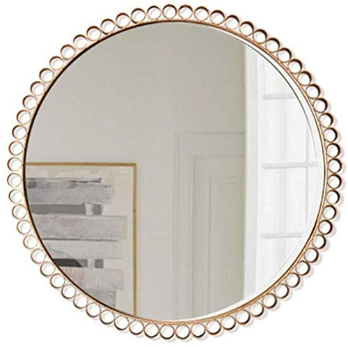 WENWEN Mirror Modern Scandinavian Style Simple Makeup Mirror Bathroom Wall Hanging Oval -