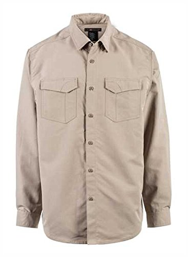 5.11 Tactical Fast-Tac Long-Sleeve Shirt, Khaki, Large