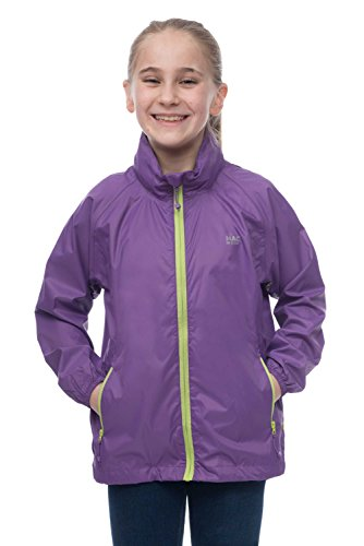 Mac in a Sac MINI Kids Origin Waterproof Packable Jacket 11-13 Years Vivid Violet