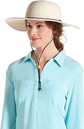 Coolibar UPF 50+ Womens SmartStraw Sedona Sun Hat (One Size- Ivory)
