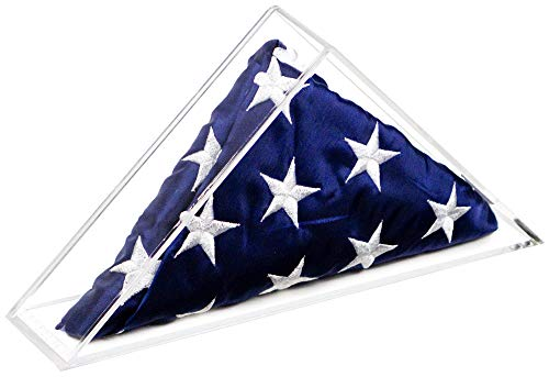 - Deluxe Clear Acrylic Table Top Extra Large Flag Memorabilia Display Case for 6' x 10' Flag (A050B)