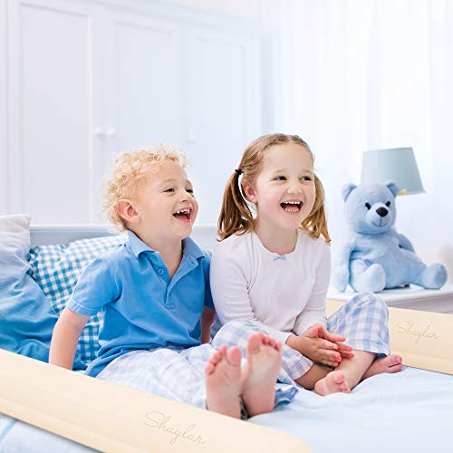 [2 Pack] The Highest Safety Rated Kids Bed Rail Bumper with Non Slip Grip - Inflatable Bed Guard Rails That are Waterproof, Portable, Fit All Bed Sizes (Perfect for Home or Travel)