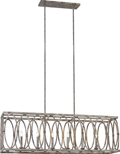 Feiss F3224/6DA Patrice Candle Linear Chandelier Lighting