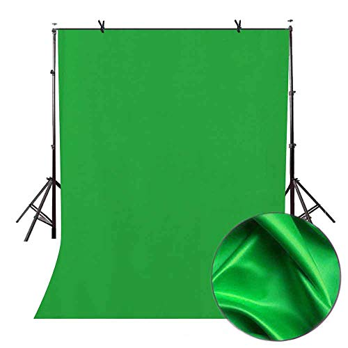 LYLYCTY 5x7ft Green Screen Key Backdrop Soft Pure Green Studio