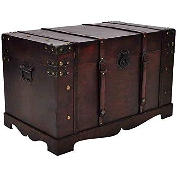 Fabulous Amazon.com: Anself Vintage Large Wooden Treasure Box, Old Style  VH27