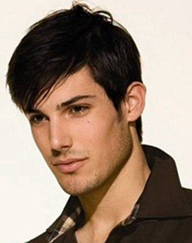 Diy-Wig Fashion Men's Short Black Synthetic Hair Wig