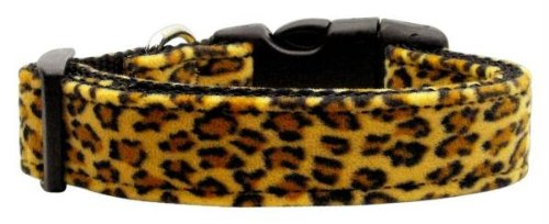 Mirage Pet Products Animal Print Nylon Collars, Medium, Leopard Leopard Print Dog Coat