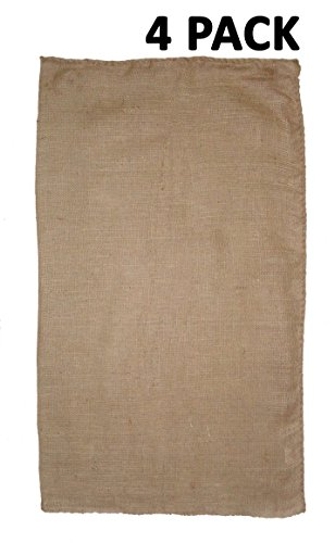 Cotton Craft - Burlap 4 Pack Potato Sack Bag 24x 39 Inch - Made from Sturdy Rugged 100% Natural Eco-friendly Jute Burlap