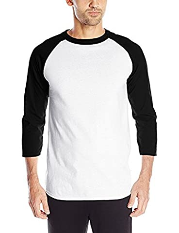 Hui Lin Men's Raglan 3/4Sleeve Cotton Baseball Tee Shirts US S to Adult 3XL - Long Sleeve Raglan Baseball