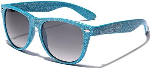 Colorful Retro Fashion Ladies Glitter Sunglasses