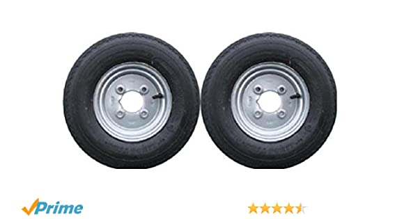 leisure MART Pack de 2 Ruedas con Llantas para Remolque, con neumáticos de 4 Capas, PCD, 400 x 8 Pulgadas,LMX1596: Amazon.es: Coche y moto