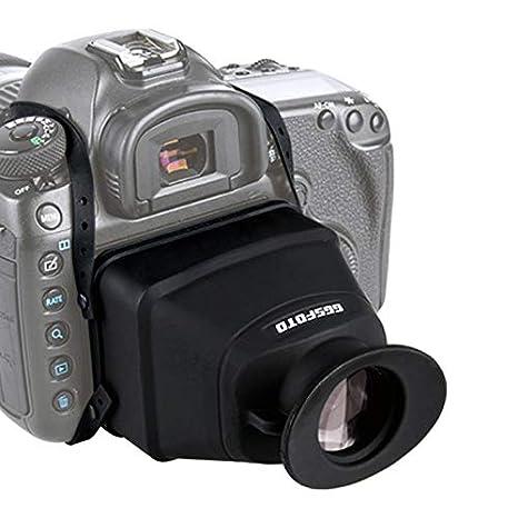 GGS - Lupa para Visor LCD Compatible con cámaras Canon Nikon Sony ...