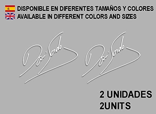 Blanco Ecoshirt IF-7KR9-DFB3 Pegatinas Signature Firma Dani Sordo F104 Vinilo Adesivi Decal Aufkleber Клей Stickers Car Voiture