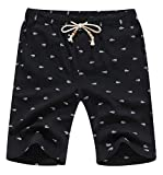 YTD Men's Linen Casual Classic Fit Short Summer Beach Shorts