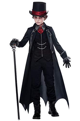 Boys Vampire Costume (California Costumes Gothic Vampire Child Costume, Black/Wine,)