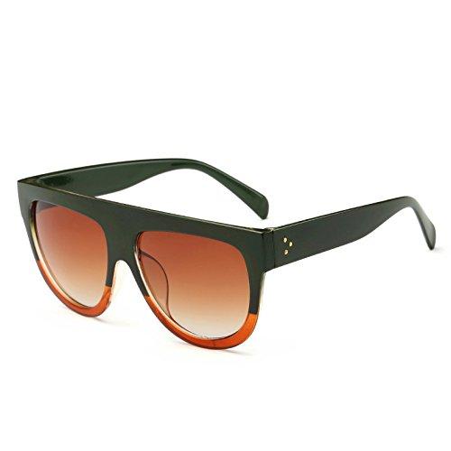 Gafas Bastidor Sol Uv 9 Enormes G Hombre Mujer C4 Frame Unas Tonos Leopardblack362 Sol Green Viajes Gradiente De Vintage Gafas TIANLIANG04 Red De qZEvx