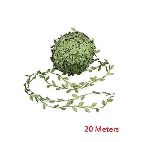- certainPL Artificial Vines, Artificial Leaf Garlands Fake DIY Vine Simulation Flower Foliage Green Leaves Decorative Home Wall Garden Wedding Party Wreaths Decor (65ft)