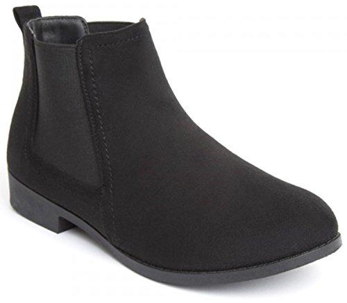 Unbranded Black Ankle Casual Chelsea Boots Boots Shoes Womens qgqrwtS