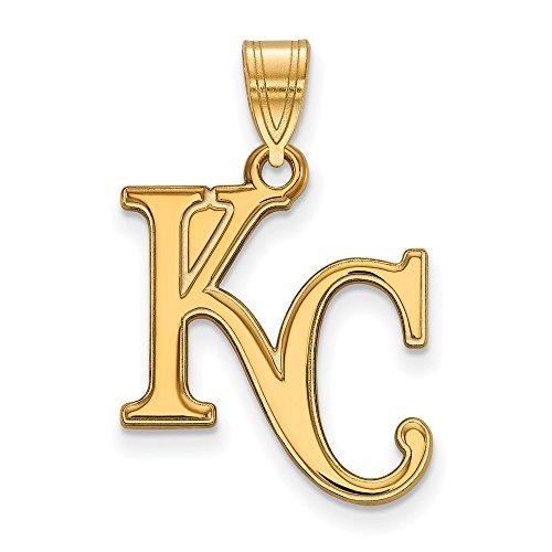 Q Gold MLB Kansas City Royals 10ky MLB LogoArt Kansas City Royals Large Pendant Size One ()