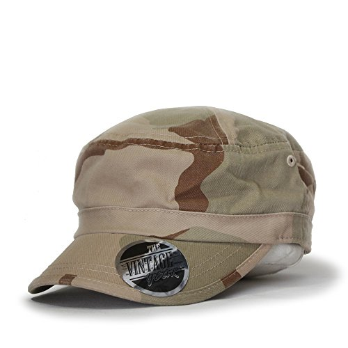 Washed Cadet Cotton Twill Adjustable Military Radar Caps (New Desert (New Year Caps)