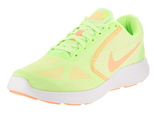 Nike Wmns Revolution 3, Zapatos para Correr para Mujer Ghost Green/Sunset Glow White