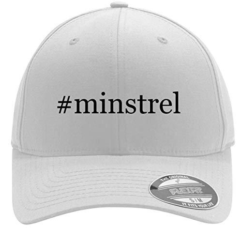 #Minstrel - Adult Men's Hashtag Flexfit Baseball Hat Cap, White, Large/X-Large (Minstrel Song Christmas White)