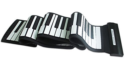 Tiangtech® New 2015 Model Flexible Electronic Music Keyboard with USB | Electronic Roll-Up MIDI Synthesizer Piano with 88 Soft Silicone Keys