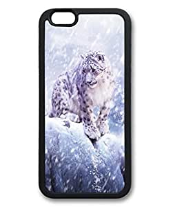 Leopards In The Snow Custom Personalized Design DIY Back Case for iPhone 6 4.7 TPU Black -1210211