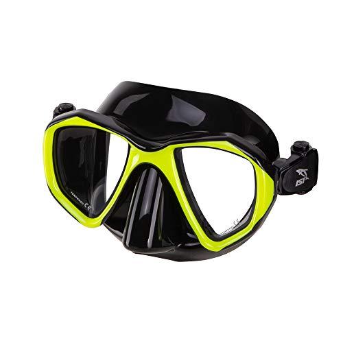IST MP201 Proteus Dive Mask (Black Silicone/Yellow)