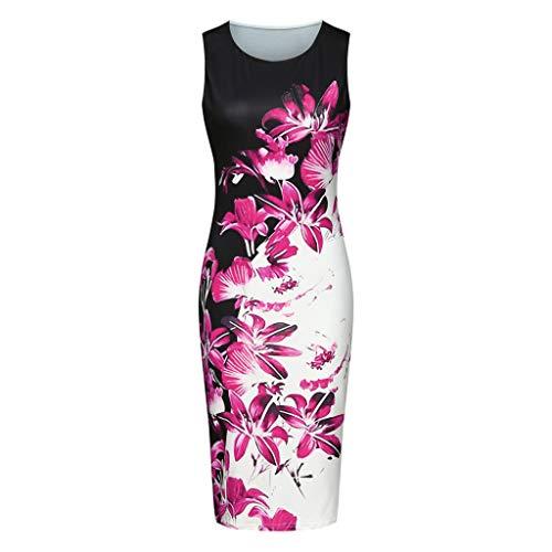 Caopixx Women's Elegant Bodycon Party Dress Knee-Length Casual Business Work Pencil Dress