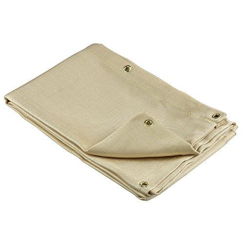 Neiko 10909A Heavy Duty Fiberglass Welding Blanket and Cover with Brass Grommets | Size 6 FT. x 8 FT.