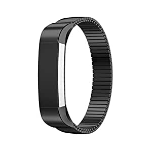 2016 Fitbit Alta Tracker Band,Creazy® Elastic Stainless Steel Bracelet Watch Band Strap For Fitbit Alta Tracker (Black)