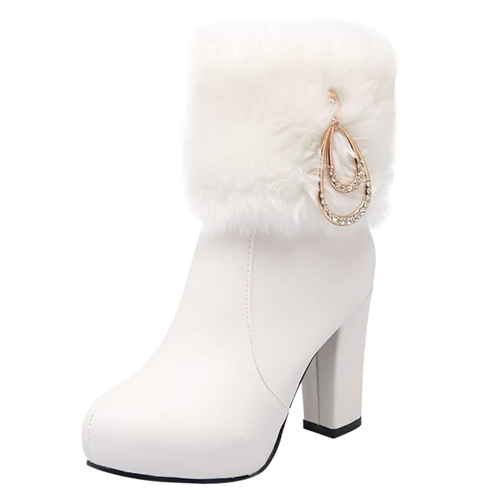 MisaKinsa Women Sweet High Heel Ankle Boots Zipper