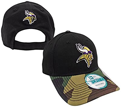 Minnesota Vikings The League Camo 9FORTY Adjustable Hat / Cap