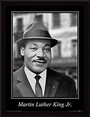 Martin Luther King Jr Poster Kunstdruck Und Mdf Rahmen Schwarz