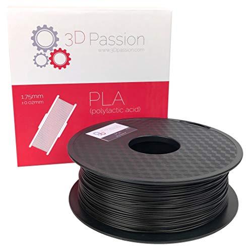 3D Passion Black PLA: Blackout, 1.75mm, Tolerance: 0.02mm
