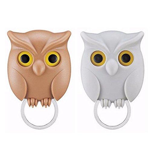 ZoCr 2Pcs Night Owl Key Holder Magnet Hold Keychain Ring Key ()