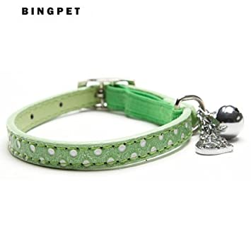 Amazon.com : UltiSmart(TM)New Polka Dots Bling Collar for Cats Safety Collars gatos and Small Dogs with Small Heart Pendant Tags : Pet Supplies