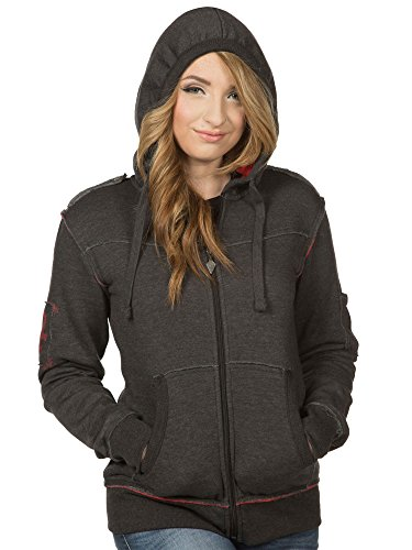 JINX World of Warcraft Women's Champion of The Horde Zip-up Hoodie (Charcoal, XXX-Large)