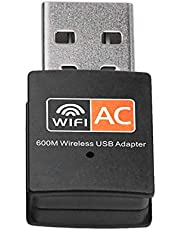 USB Wireless Adapter Wifi Antenna Dual Band 600Mbps WiFi USB Adapter for MAC Windows