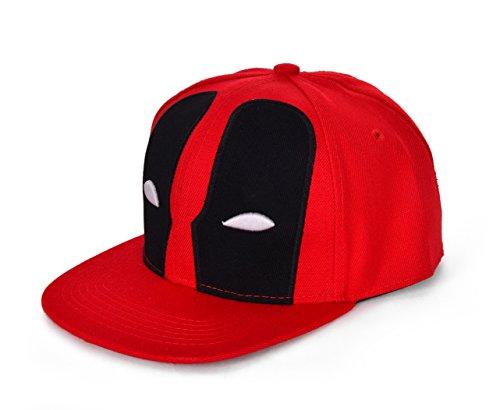 REINDEAR Deadpool Baseball Cap Hip-hop Snapback Hat US Seller (Red) by REINDEAR